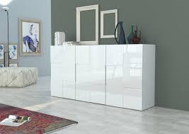 Buffet design blanc laqué 3 portes Chicago 180 cm