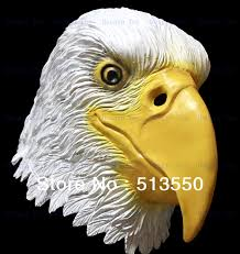 newly eagle mask head deluxe quality overhead latex animal