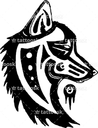 Wolf Indian Tattoos - wolf tribal totem indian tattoosk