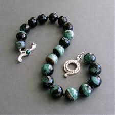 black agate necklace images Green black agate choker necklace jaden necklace karen jpg