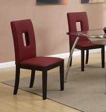 amazon com parson dining chairs set of 2 red leather by poundex