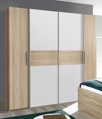 Schlafzimmer Komplett Eiche Sonoma Kleiderschrank Schlafzimmerschrank 200cm Eiche Sonoma Weiß Neu