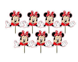 printable minnie mouse cupcake toppers cupcake wrappers