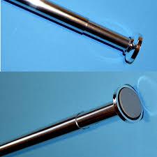 telescopic rail 125 220cm shower curtain rod bath extendable pole