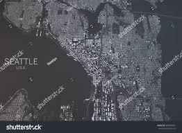 Washinton State Map by Seattle Map Satellite View Washington State Stock Illustration