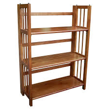 stackable bookcases solid wood have to have it 3 tier stackable folding bookcase oak 61 98
