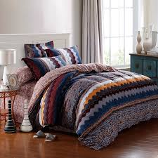 blue and orange bedding navy blue orange and brown aztec zigzag stripe geometric
