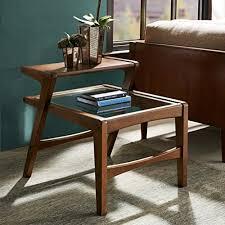 midcentury modern side table amazon com