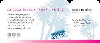 boarding pass invitations sle las vegas palms boarding pass invites invitations by r2
