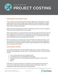 Project Spreadsheet Learn How To Calculate Project Costs With This Excel Template