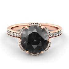 black diamond promise ring black diamond engagement ring flower diamond ring vintage
