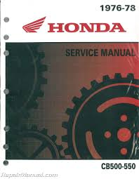 1976 1978 honda cb500 cb550 motorcycle service manual