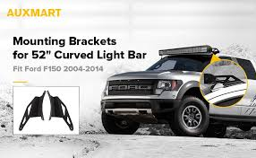 2017 f150 light bar amazon com auxmart a pair of 52 upper windshield curved light bar