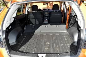 gray subaru crosstrek subaru xv crosstrek rear cargo area road bike news reviews and