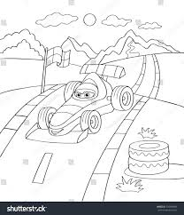 cute sport car coloring page illustration stock vector 339499688