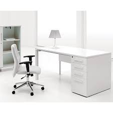 Modern Desk White Jesper Office White Lacquer Study Desk With Drawers Overstock