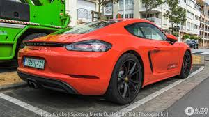 porsche cayman orange porsche 718 cayman s 27 june 2017 autogespot