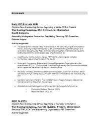 resume format for boeing resume for boeing prepossessing manufacturing engineer resume