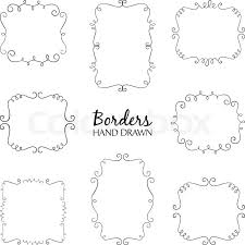 Border Designs For Birthday Cards Vector Illustration Of Hand Drawn Borders Set Collection Of