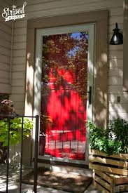 Front Door Red by Front Door Makeover The Striped House
