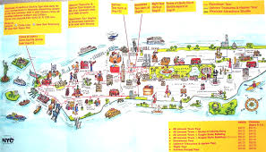 tourist map of new york map of attractions in new york city travel maps and major