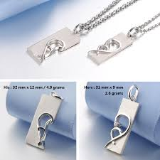 his and hers dog tags blue sweet necklaces open your heart necklaces for women