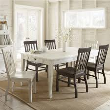 steve silver cayla 7 piece two tone farmhouse dining set with