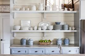 kitchens shelves home design ideas 7 it s a budget friendly solution country kitchen features charming open shelving