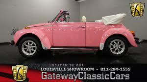volkswagen buggy pink 1977 vw super beetle convertible louisville showroom stock