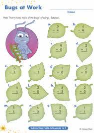 Homeschool Kindergarten Worksheets 10 Math Activity Bugs Life Subtraction Worksheets To Add A
