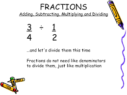 adding subtracting multiplying and dividing fractions worksheets