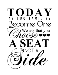 free wedding printable choose a seat not a side