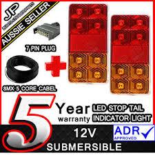 trailer light kit pair of led trailer lights 1 x plug 8m x 5