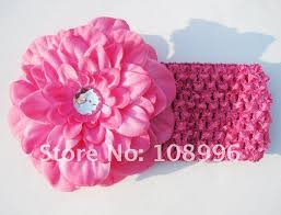crochet hair bands free shipping 5colors crochet headband with flower baby hairbands