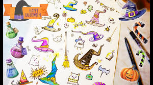 cute halloween drawings how to draw witches hat halloween