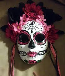 mardi gras skull mask sugar skull mask ready to ship made day by antonisartasylum