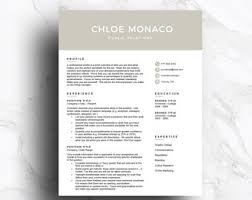 Resume Templates For Mac Resume Template Mac Etsy