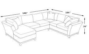 Sectional Sofas Dimensions Sectional Sofa Dimensions Standard Mjex Co