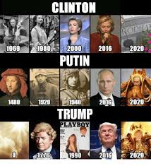 Meme Putin - clinton 2016 2020 1969 1980 20000 putin 2020 1480 1920 2016 1940