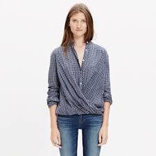 popover blouse draped popover shirt plaid shirts madewell