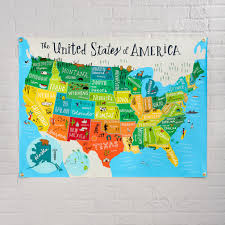 Map Of The World Shower Curtain by Kids Wall Banners The Land Of Nod