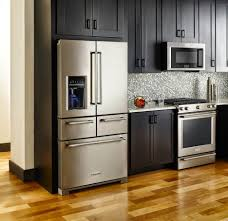 Kitchen Cabinets Stainless Steel Kitchen Amazing Over Refrigerator Kitchen Cabinets With