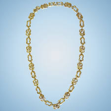 gold with diamond necklace images Vintage david webb 18k yellow gold diamond necklace the vintage jpg