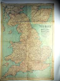 Road Map Of Scotland Bits Road Map Of England And Scotland By George Newnes Ltd
