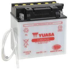 new genuine yuasa yumicron yb16cl b motorcycle battery 12v 19ah