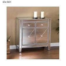 Mirrored Storage Cabinet Mirrored Storage Cabinet Entryway Night Stand End Table Hallway