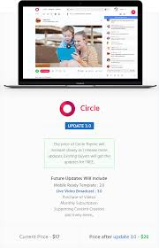 circle video sharing website psd template by azyrusmax themeforest