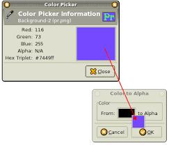 gimp changing background color 1