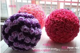 artificial flower 12 inch wedding silk pomander flower decorate