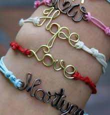 bracelet friendship name images Wire name friendship bracelet npa party productions jpg